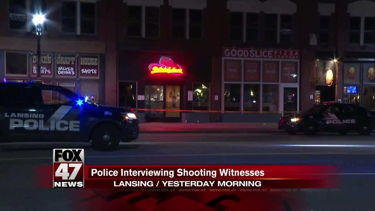 Police interviewing witnesses in shooting