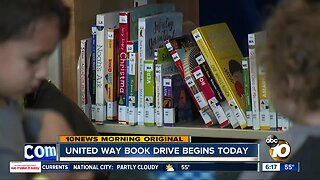 United Way launches book drive to help San Diego families
