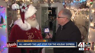 With family fun and charity gifts, the Holiday Express chugs into KC - Video