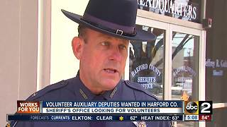Harford County Sheriff's Office looking for volunteer Auxiliary Deputies - Video