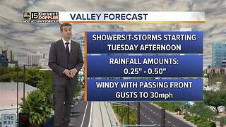 Cooler temps heading to the Valley - Video