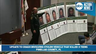 Sheriff: Three teens in stolen car die in fiery crash: Presser part 1 - Video