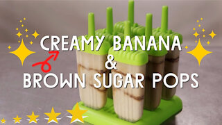 Creamy Banana & Brown Sugar Pops - A Great Easy Fun Dessert For Anytime