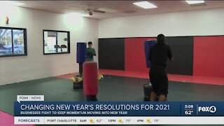 Changes in new years resolutions for 2021