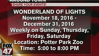 Potter Park Zoo decorated with thousands of lights - Video