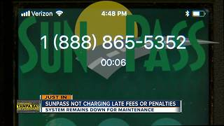 FDOT announces no late fees, penalties for SunPass customers because of system error | Driving Tampa Bay Forward - Video