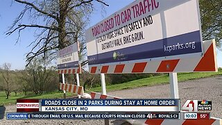 Roads close in 2 parks during stay-at-home order