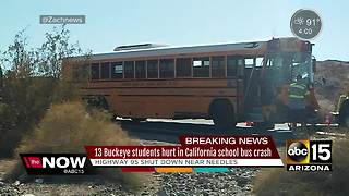 Buckeye students hurt in California bus crash - Video