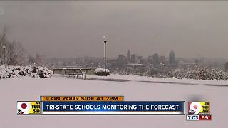 Tri-State schools monitoring the forecast - Video