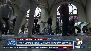 Faith leaders plan to modify in-person services