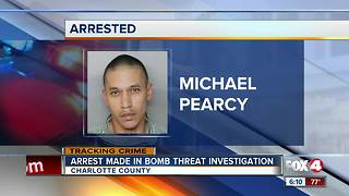 Man arrested in connection to school bomb threat in Charlotte County