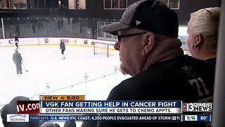 VGK fan with cancer gets support from fellow fans
