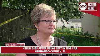 9-month-old dies after being left in hot car - presser