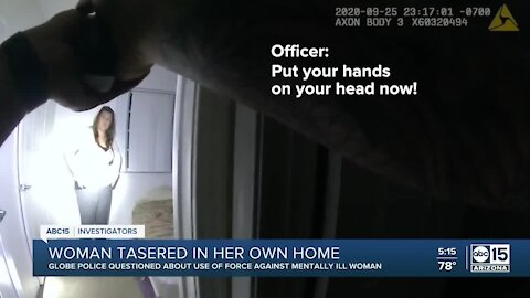 Family files claim after Globe officers taser woman with mental illness