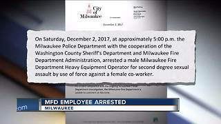 Milwaukee Fire Department employee accused of sexual assault