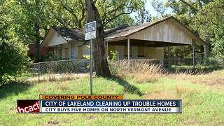 Lakeland buys homes filled with trash, plans on refurbishing for affordable housing - Video