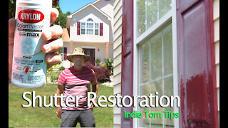 Shutter Restoration on plastic shutters without removing them