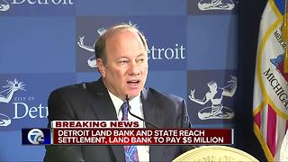 Detroit land bank settlement agreement