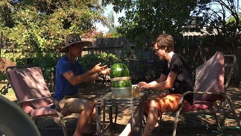 Awesome Science Experiment With Watermelon And Rubber Bands