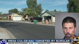 Man busted after allegedly breaking into Mesa homes - Video