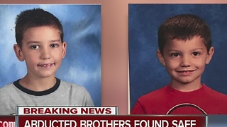 Abducted brothers found safe - Video