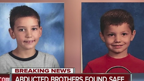 Abducted brothers found safe