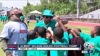 Albert Wilson holds third annual Albert Wilson Youth Football Camp - Video