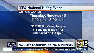 Companies hiring now in the Valley - Video
