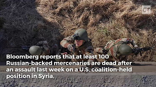 Over 100 Russians Dead After Attack on US Forces - Video