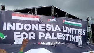 Thousands of Indonesians March in Support of Palestine - Video
