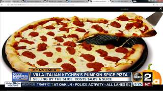 Pumpkin spice pizza available tomorrow - Video