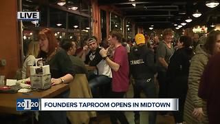 Founders Brewing Company opens Detroit taproom - Video