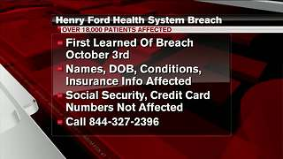 More than 18K Henry Ford Health System patients affected in data breach - Video