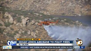 SDG&E sends Aircrane to fight fires - Video