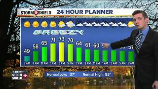 Warm and breezy for Friday - Video