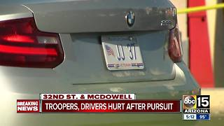 Police pursuit possibly connected to Scottsdale carjacking - Video