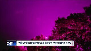 Wheatfield neighbors concerned over purple glow
