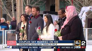 Couples get married on ice at The Avenue at White Marsh - Video