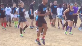 Team Warm-Up Together Before Run - Video