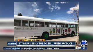 Startup uses bus to sell fresh produce - Video