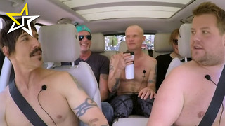 James Corden Goes Rock N Roll During 'Carpool Karaoke' With Red Hot Chili Peppers - Video