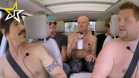 James Corden Goes Rock N Roll During 'Carpool Karaoke' With Red Hot Chili Peppers