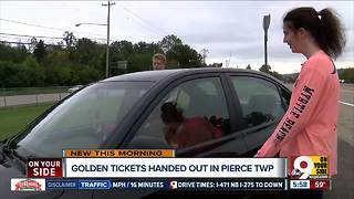 Pierce Township police handing out golden tickets to citizens who do the right thing - Video