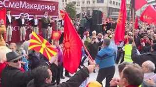Thousands Gather in Macedonian Capital to Protest Against Name Change - Video