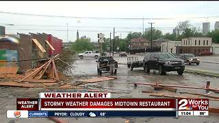 Stormy weather damages midtown restuarant - Video