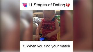 Babies Explain 11 Stages of Dating - Video