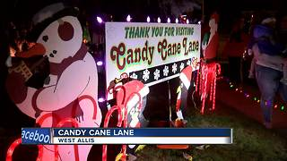 Candy Cane Lane opens in West Allis - Video