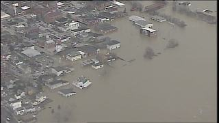 Aurora, Indiana underwater as Ohio River keeps rising