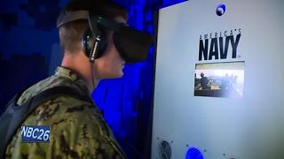 Virtual reality tent at EAA AirVenture gives you a simulation of life in the U.S. Navy - Video