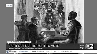 Decades of suffrage fighting for the right to vote